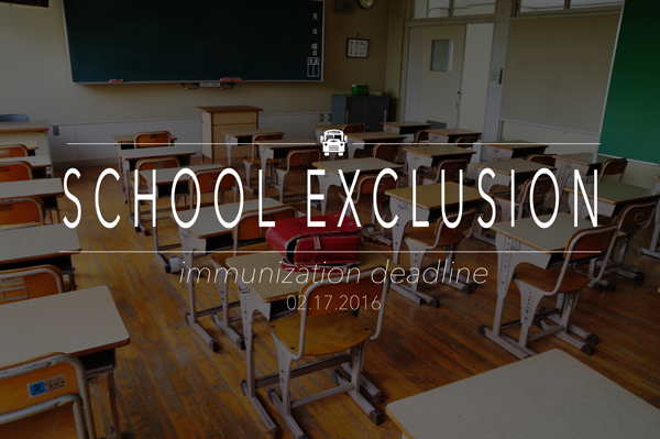 School Exclusion – Immunization Deadline 2-17-15